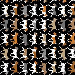 Trotting Rat terrier border vertical - black