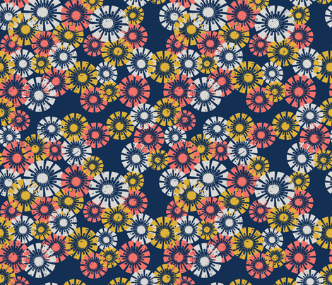 Coral Floral fabric by ameemax on Spoonflower - custom fabric