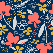 Coral Lmtd Colors-Floral Whimsy