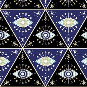 Evil eye pattern
