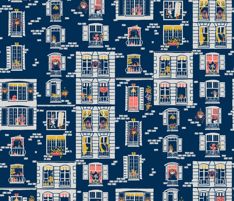 Paris Windows fabric by southwind on Spoonflower - custom fabric