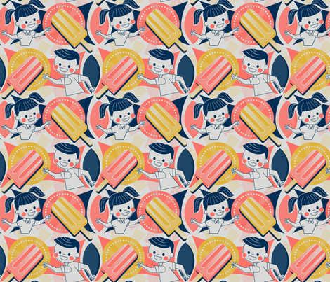 Vintage Popsicle Ad fabric by mia_valdez on Spoonflower - custom fabric