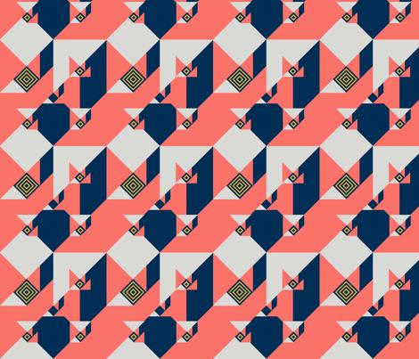 Tangram Two fabric by godfatherpaj on Spoonflower - custom fabric
