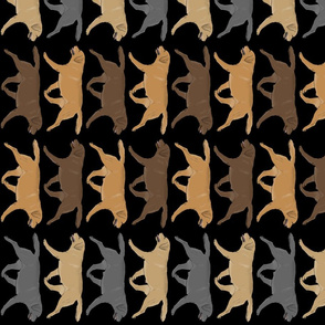 Trotting Labrador Retriever border vertical - black
