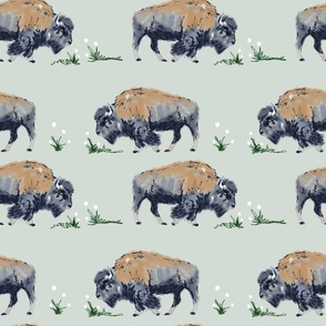 Roaming Bison Gray