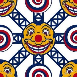 Vintage Toy Ferris Wheel Clown & Spiral2