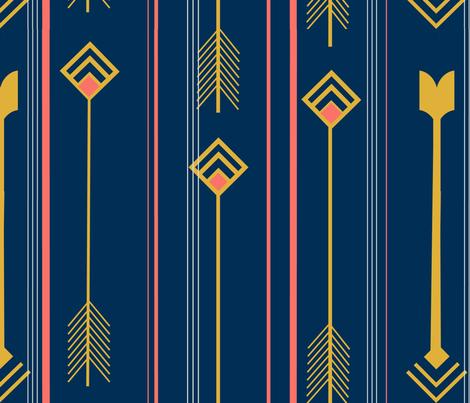 Arrows in Flight fabric by elphaba09 on Spoonflower - custom fabric