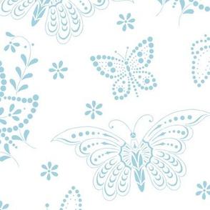 Flutterbies aqua 1