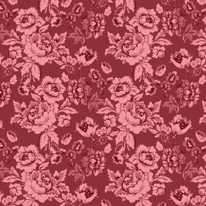 Damask rose pattern