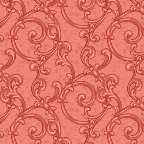 Coral scrolling pattern