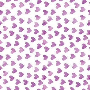 watercolor hearts in purple (90) C19BS