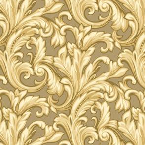 Gold Scroll Pattern