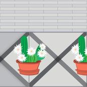 Cactus Flower - simple greys