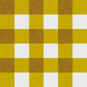 gingham mustard large