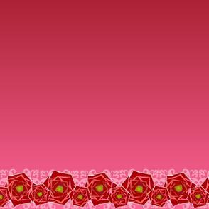 Ombre Rose border- horizontal