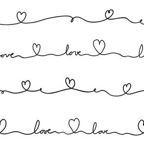 love doodle black