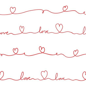 love doodle red
