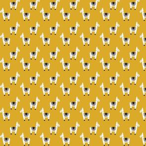 watercolor llamas // gold // custom small