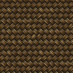 Wicker Rattan Basket Weaved Brown
