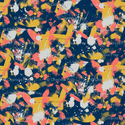 Energetic Splashy Abstraction in Living Coral