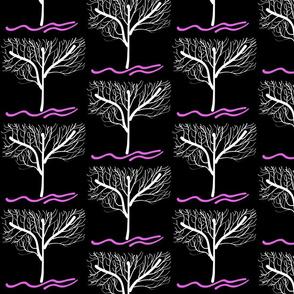 Trees Breathe Life (winter night)