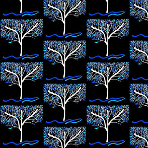 Trees Breathe Life (autumn night)