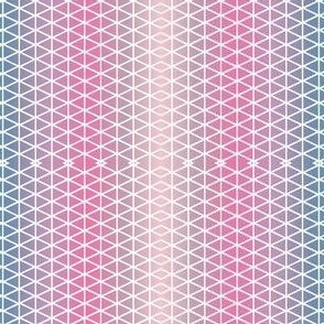 Soft Pastel  triangles, Minimalist Beach themed design in calming colors
