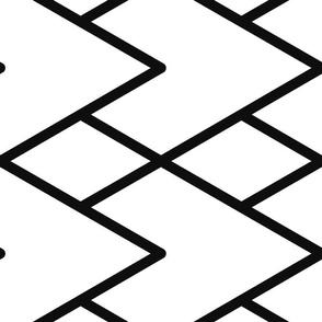 Black and White Geometric Layered Triangle Pattern