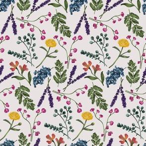 Botanical Pattern Tan