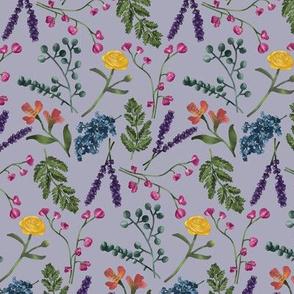 Botanical Pattern Purple