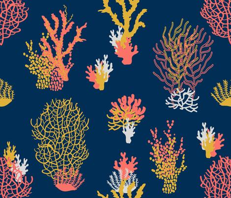 Corals Limited Palette fabric by svetlana_kononova on Spoonflower - custom fabric
