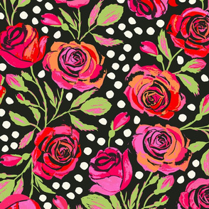 Rockabilly Roses Dark