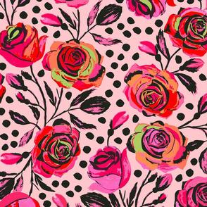 Rockabilly Roses Pink