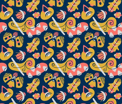 Alien Lifeforms fabric by thewellingtonboot on Spoonflower - custom fabric