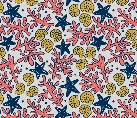 Living Coral fabric by maria_galybina on Spoonflower - custom fabric