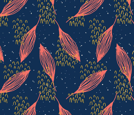 Abstract Leaves and Patterns fabric by statement_goods on Spoonflower - custom fabric
