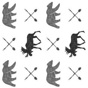 moose bear and arrows || monochrome (90) C19BS