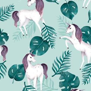 Unicorn Dreaming - Leaves - Green