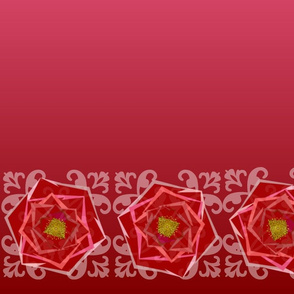 Ombre Rose border-horizontal 3