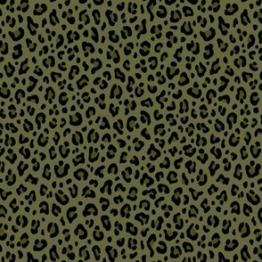 ★ CAMO LEOPARD - LEOPARD PRINT in OLIVE GREEN ★ Tiny Scale / Collection : Leopard spots – Punk Rock Animal Print