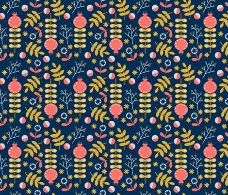 GROW Navy fabric by hayleyraedesigns on Spoonflower - custom fabric