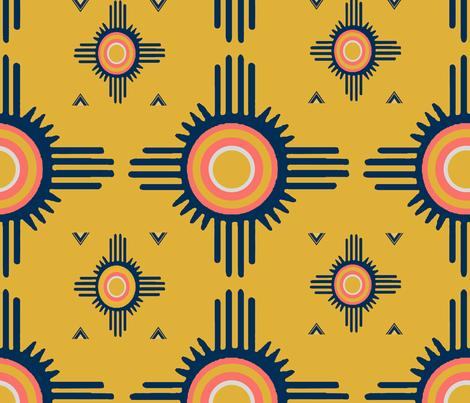 Southwest Zuni del Sol - Design Challenge fabric by vagabond_folk_art on Spoonflower - custom fabric