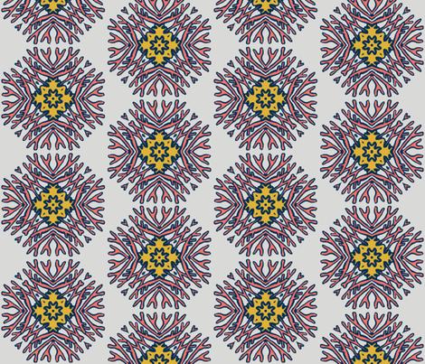 Living Coral Mandala fabric by sewingscientist on Spoonflower - custom fabric
