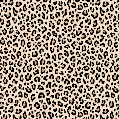 ★ BLACK and WHITE LEOPARD - LEOPARD PRINT in ECRU ★ Tiny Scale / Collection : Leopard spots – Punk Rock Animal Print fabric by borderlines on Spoonflower - custom fabric