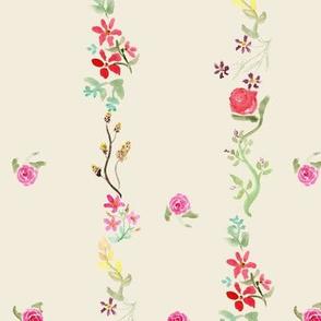 Vintage Floral Stripe cream