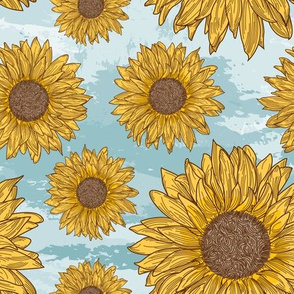 Bright and Sunny Sunflower Pattern