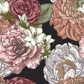 Blooming Vintage Floral Chintz Pattern