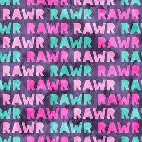 RAWR - Dinosaur - purple - LAD19