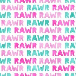 RAWR - Dinosaur - Pink & Aqua - LAD19