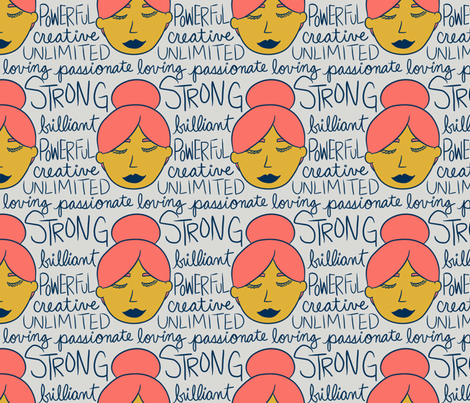 Powerful Words fabric by cozyreverie on Spoonflower - custom fabric